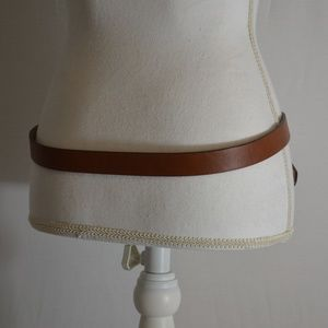 Unbranded Accessories - Womens Unbranded Knot Accent Brown Belt Size Large